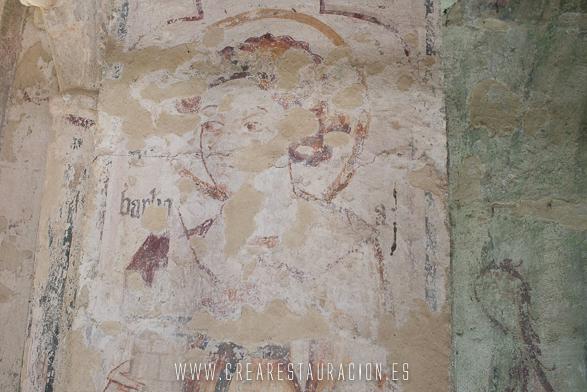 Palas de Rei - Vilar de Donas - Pintura Mural.Sta.Barbara1