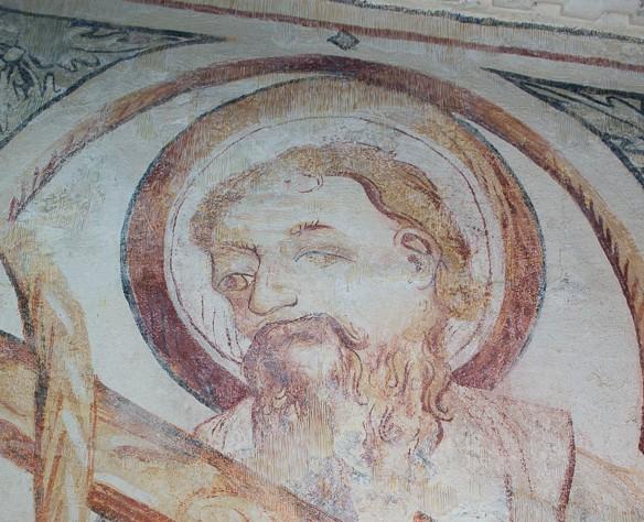 Palas de Rei - Vilar de Donas - Pintura Mural. Z.EPÍSTOLA-372- E
