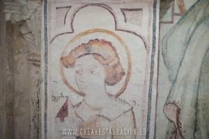 Palas de Rei - Vilar de Donas - Pintura Mural. Z.EPÍSTOLA-388- E